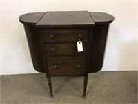 Mahogany sewing cabinet