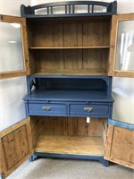 Antique two-piece cupboard