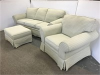 Clayton Marcus sofa, chair and ottoman