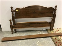 Solid maple bed