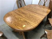 Quality Oak dining room table and chairs