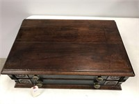 Victorian two drawer spool cabinet
