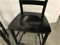 Pair of wooden counter stools