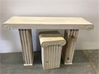 Wall table and pedestal