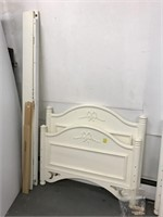 Pair of Single bed with side rails and slats.