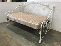 Beautiful metal daybed with mattress