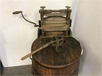 Antique Wooden ringer washer