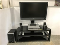 Sony 40 inch TV w/console and surround sound