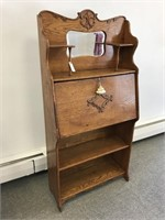 Victorian oak slant front writing desk