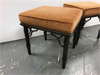Two bamboo style benches