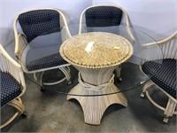 5 Piece Bamboo patio set