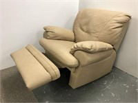 Soft leather stitched recliner