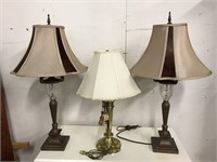 Three modern table lamps