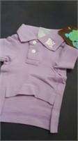 """Mauve polo shirt size small, XS=8.5"""" M=12"""""""