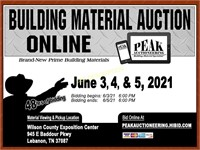 Nashville June 2021 Peak Building Material Auction