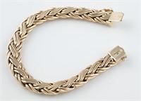 Tiffany & Co. 14k woven bracelet.
