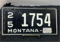 Montana License Plates & Collectibles Auction