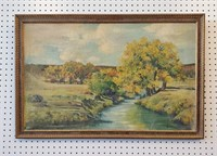 Circa 1930s Landscape Oil Painting Signed Morledge