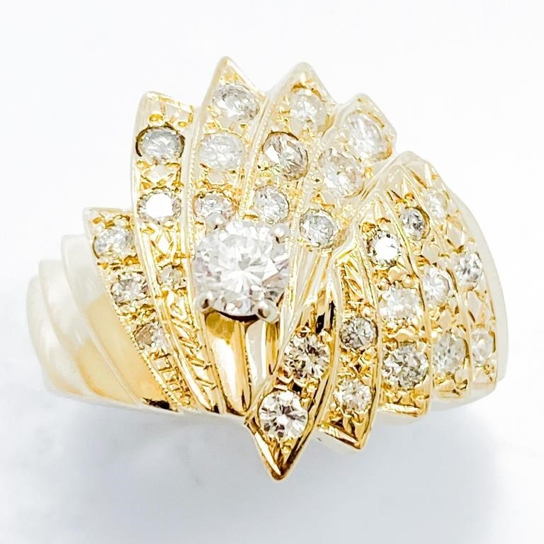 HUGE Fine Jewelry Auction-Mens Rings, Diamonds, Gold +++