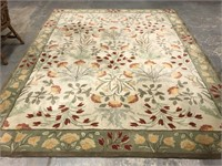 Pottery barn hand tufted room size rug