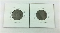 Two V Nickels 1898 and 1905