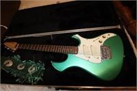 Rare Green Fender Performance Guitar w/ Hard Case