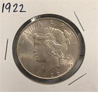 I - 1922 SILVER DOLLAR
