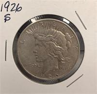 M - 1926 SILVER DOLLAR