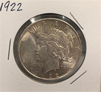 Q - 1922 SILVER DOLLAR
