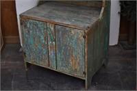 Primitive Wood Hutch Cabinet