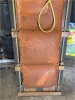 Adirondack toboggan w/ cushion