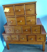 881 - UNUSUAL TIERED CABINET APPRX 40X31  (N3)