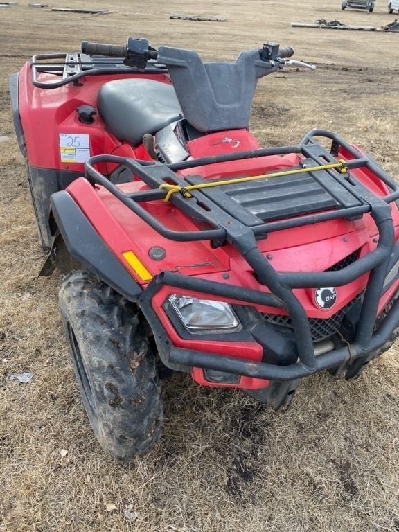 2009 CanAm 400cc 4 wheeler. 4x4, shows 10,896