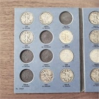 2 US Coin Albums 36 Liberty Standing Silver Half $