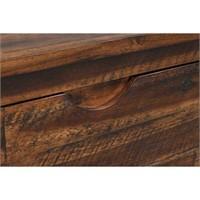 Broadmore Brown Acacia Wood Storage Trunk