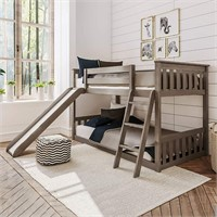 Max & Lily Solid Wood Twin Low Bunk Bed