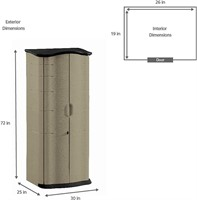 Rubbermaid Roughneck Vertical Resin Storage Shed