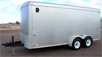 Lot 5002 - 2007 H & H Enclosed Trailer.  Absentee bidding available on this item. Click catalog tab for more information & pictures.