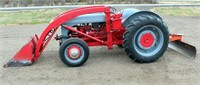 Lot 5013, Forn 2 N Tractor w/FE Loader & Blade. Absentee bidding available on this item. Click catalog tab for more information & pictures.