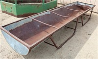 Lot 5031 - Long Cattle Feeder #1.  Absentee bidding available on this item. Click catalog tab for more information & pictures.