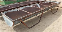 Lot 5032 - Long Cattle Feeder #2.  Absentee bidding available on this item. Click catalog tab for more information & pictures.