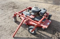 Lot 5035 - Swisher Pull-Behind Mower.  Absentee bidding available on this item. Click catalog tab for more information & pictures.