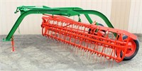 Lot 5038 - Case Side Delivery Rake.  Absentee bidding available on this item. Click catalog tab for more information & pictures.