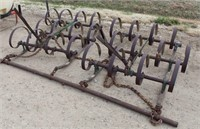 Lot 5040 - Oliver Springtooth Cultivator.  Absentee bidding available on this item. Click catalog tab for more information & pictures.