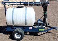 Lot 5053 - Schaben Ind Sprayer on trlr.   Absentee bidding available on this item. Click catalog tab for more information & pictures.