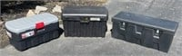 (3) Poly Tool Boxes, new