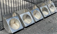 (5) Individual SS Feeders