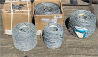 Misc Rolls Barbed Wire, new