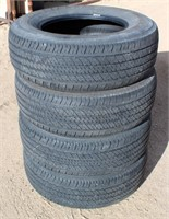 (4) Bridgestone Dueler H/T P255/70R17 Tires