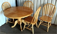 Pine Drop Leaf Table w/4-Chairs